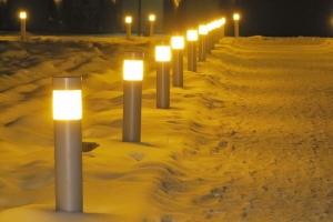 Ліхтарики взимку